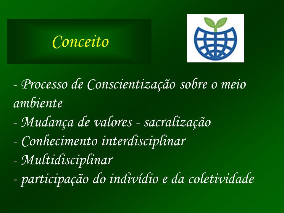 Conceito - Processo de Conscientização sobre o meio ambiente