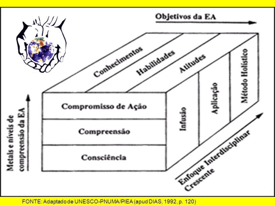 FONTE: Adaptado de UNESCO-PNUMA/PIEA (apud DIAS, 1992, p. 120)