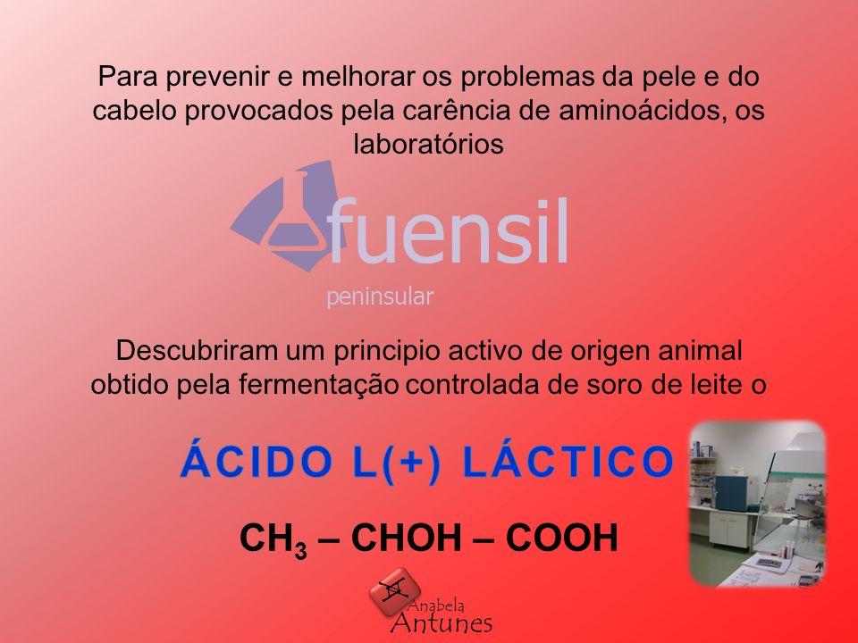 ÁCIDO L(+) LÁCTICO fuensil CH3 – CHOH – COOH