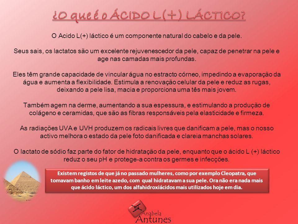 ¿O que é o ÁCIDO L(+) LÁCTICO