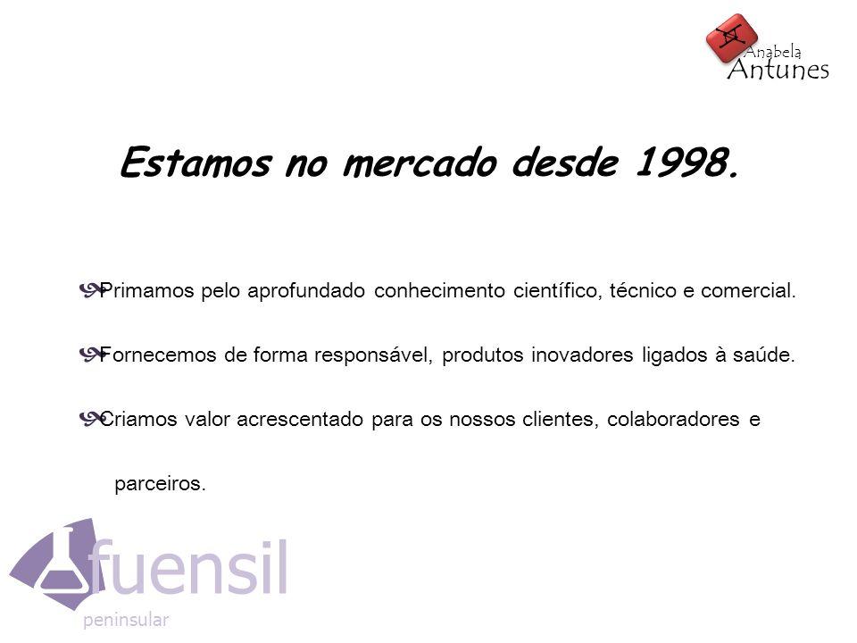 Estamos no mercado desde 1998.