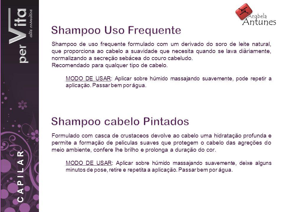pervita Shampoo Uso Frequente Shampoo cabelo Pintados alta cosmética A