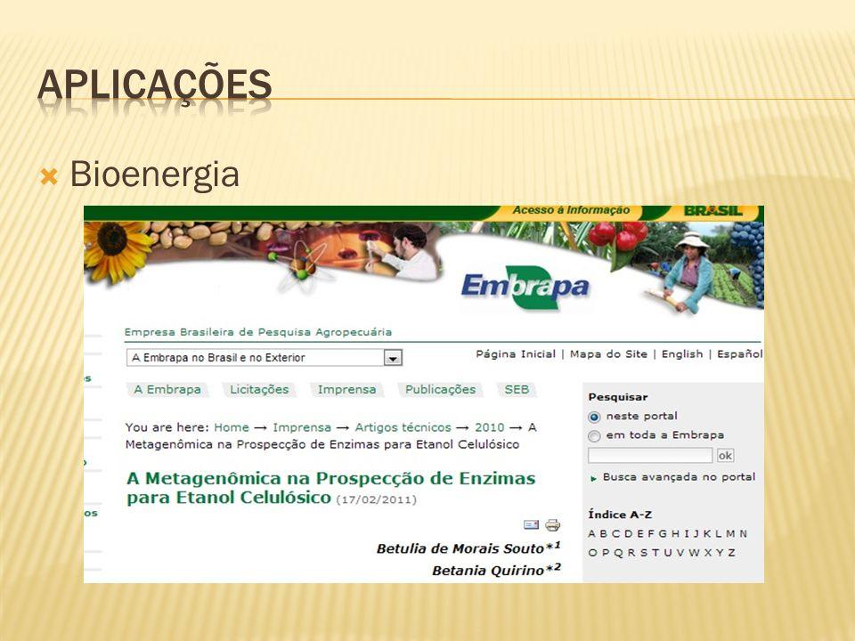 APLICAÇÕES Bioenergia