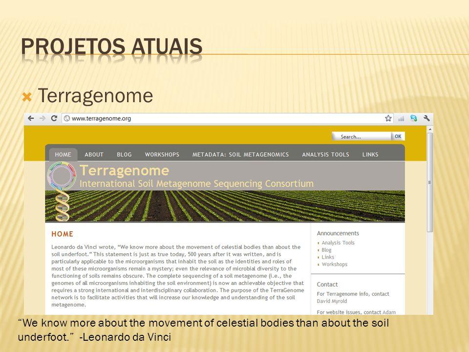 PROJETOS ATUAIS Terragenome
