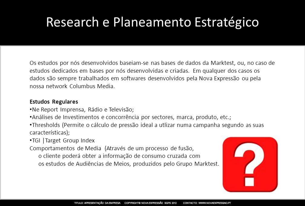 Research e Planeamento Estratégico