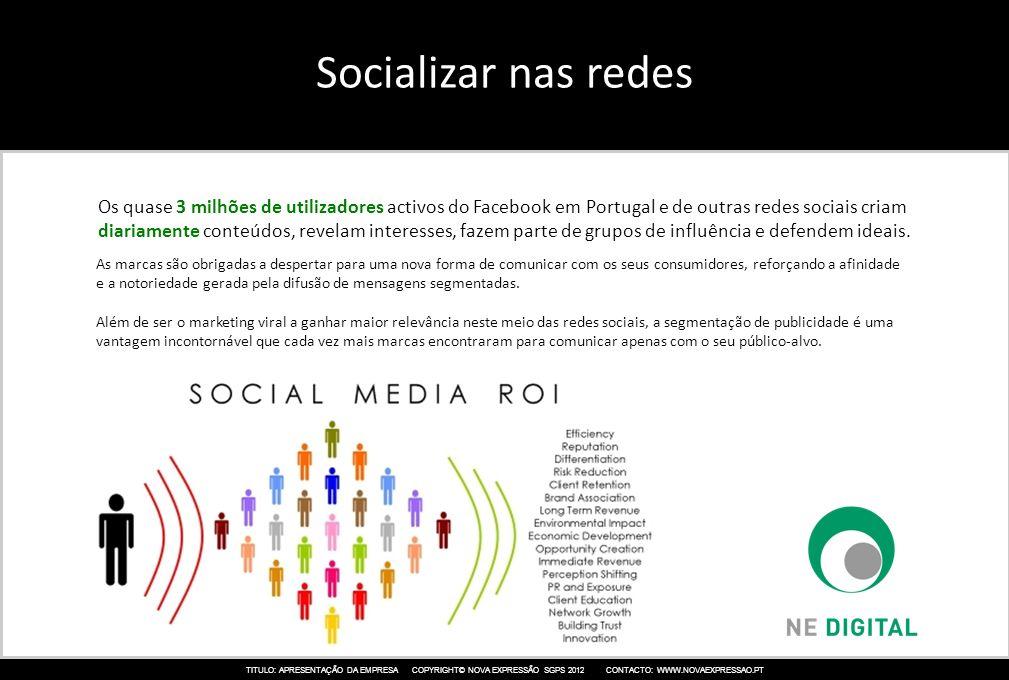 Socializar nas redes