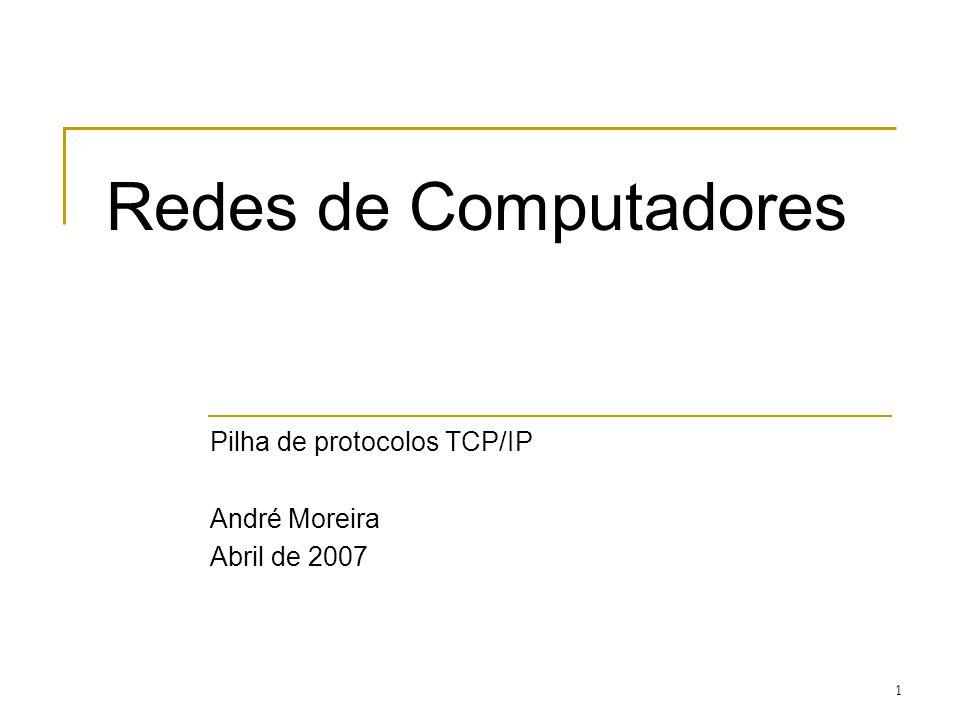 Pilha de protocolos TCP/IP André Moreira Abril de 2007