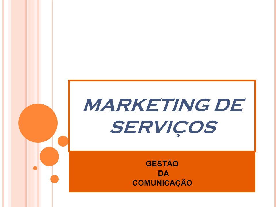 MARKETING DE SERVIÇOS GESTÃO DA COMUNICAÇÃO