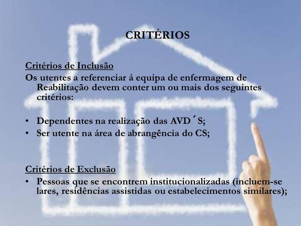 CRITÉRIOS Critérios de Inclusão
