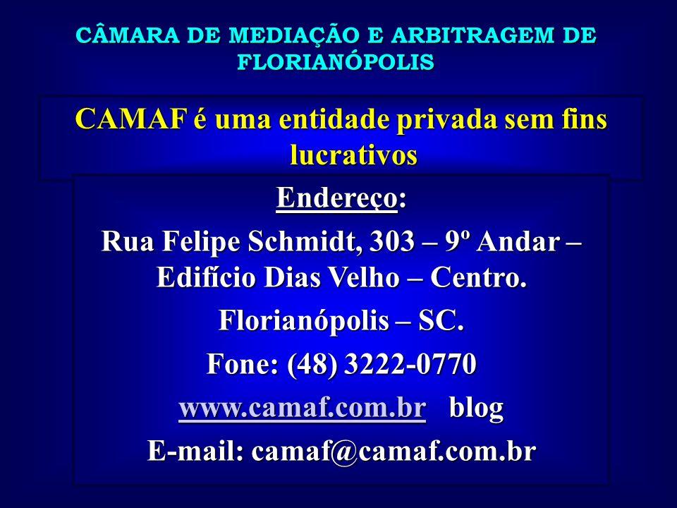 CAMAF é uma entidade privada sem fins lucrativos