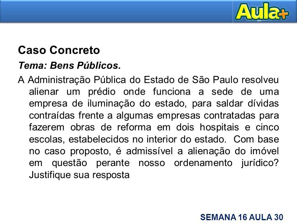 Caso Concreto Tema: Bens Públicos.