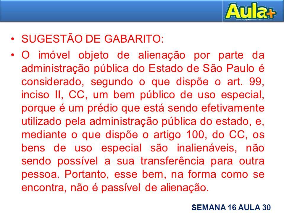 SUGESTÃO DE GABARITO: