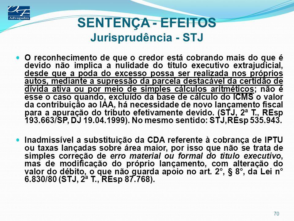 SENTENÇA - EFEITOS Jurisprudência - STJ