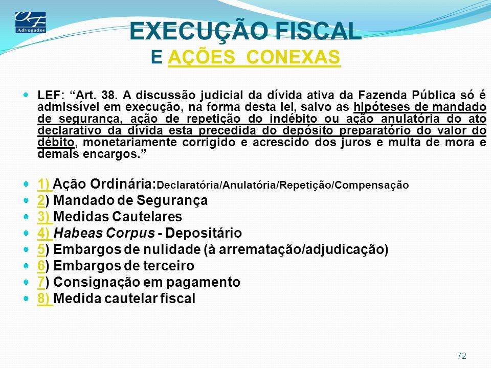 EXECUÇÃO FISCAL E AÇÕES CONEXAS
