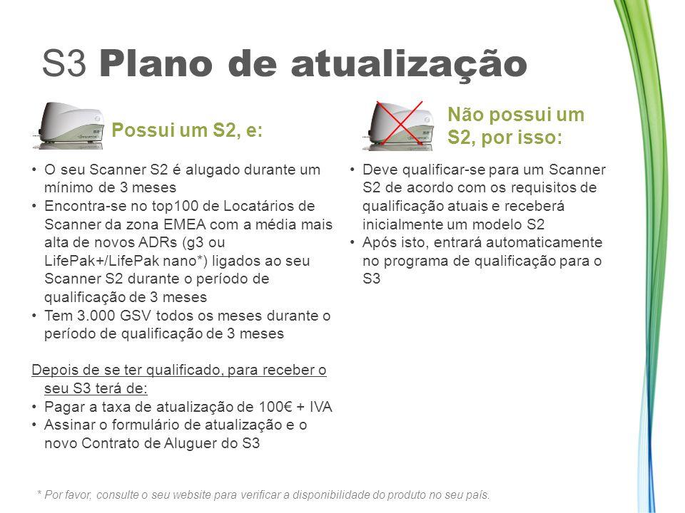 S3 Plano de atualização Não possui um S2, por isso: Possui um S2, e: