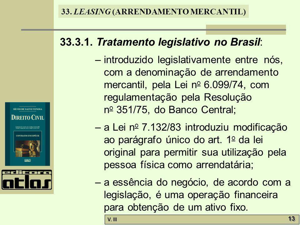 33.3.1. Tratamento legislativo no Brasil: