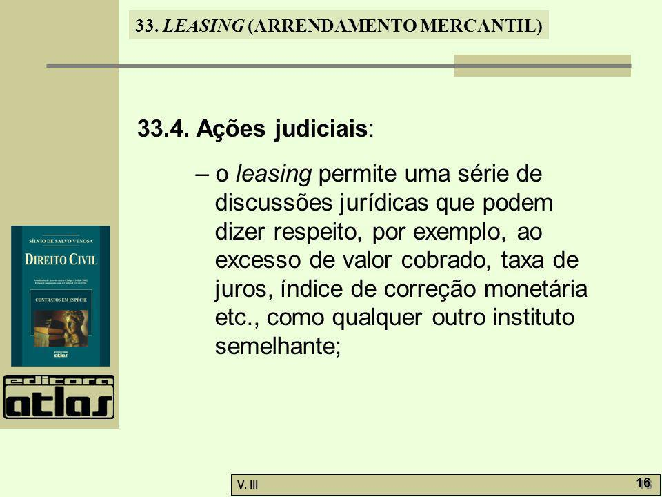 33.4. Ações judiciais: