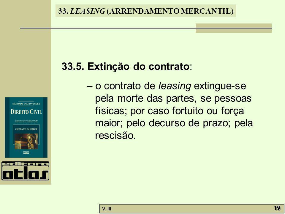 33.5. Extinção do contrato: