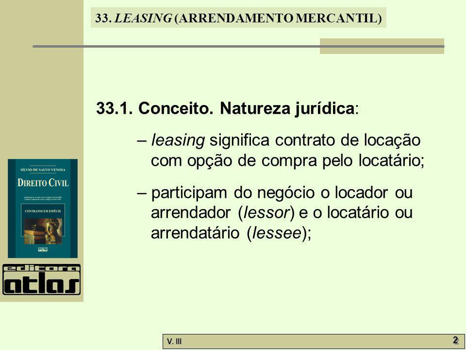 33.1. Conceito. Natureza jurídica: