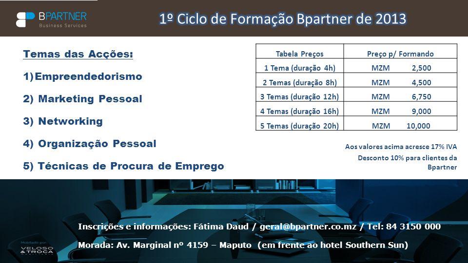 1º Ciclo de Formação Bpartner de 2013