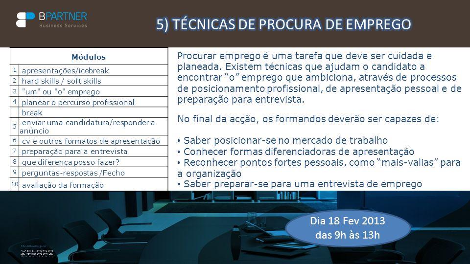 5) TÉCNICAS DE PROCURA DE EMPREGO