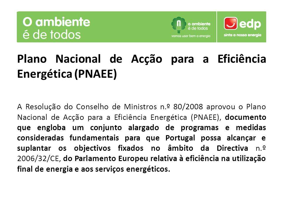Plano Nacional de Acção para a Eficiência Energética (PNAEE)