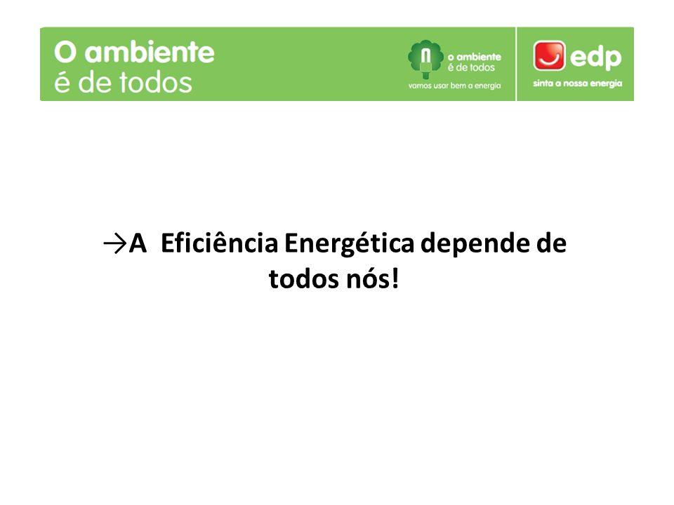 A Eficiência Energética depende de todos nós!