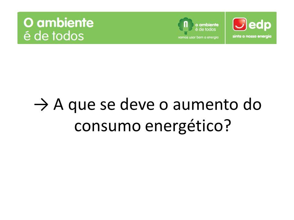 A que se deve o aumento do consumo energético