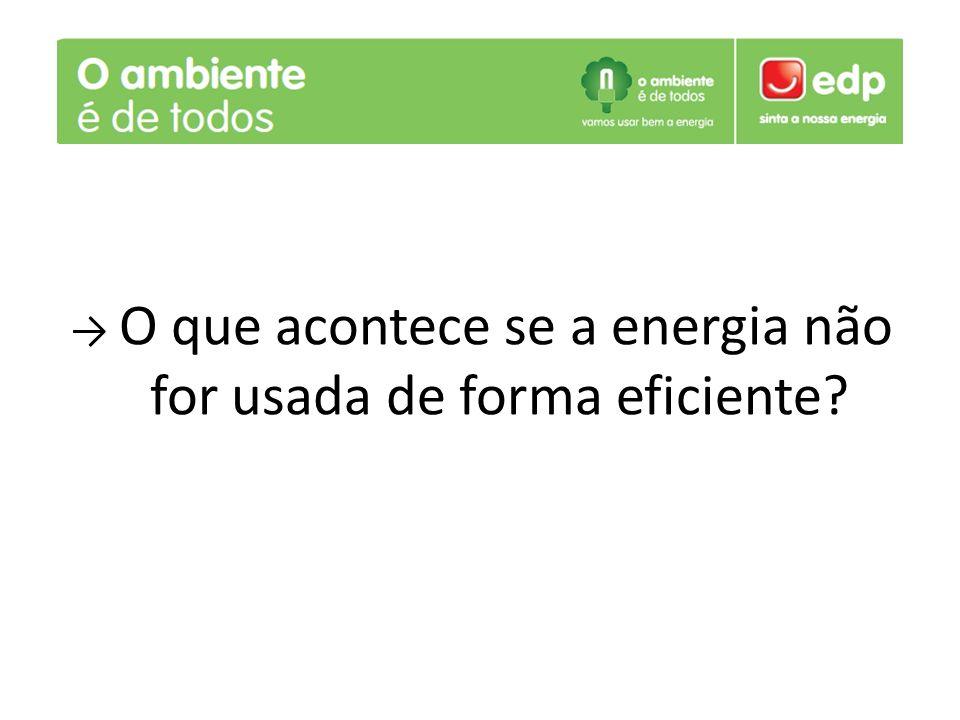 O que acontece se a energia não for usada de forma eficiente