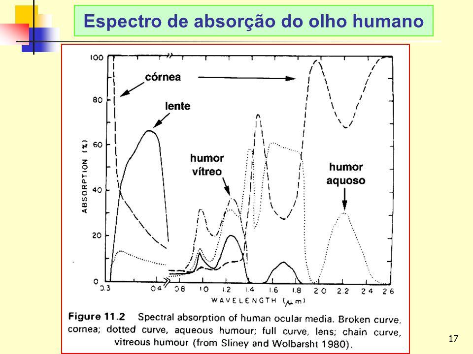 Espectro de absorção do olho humano