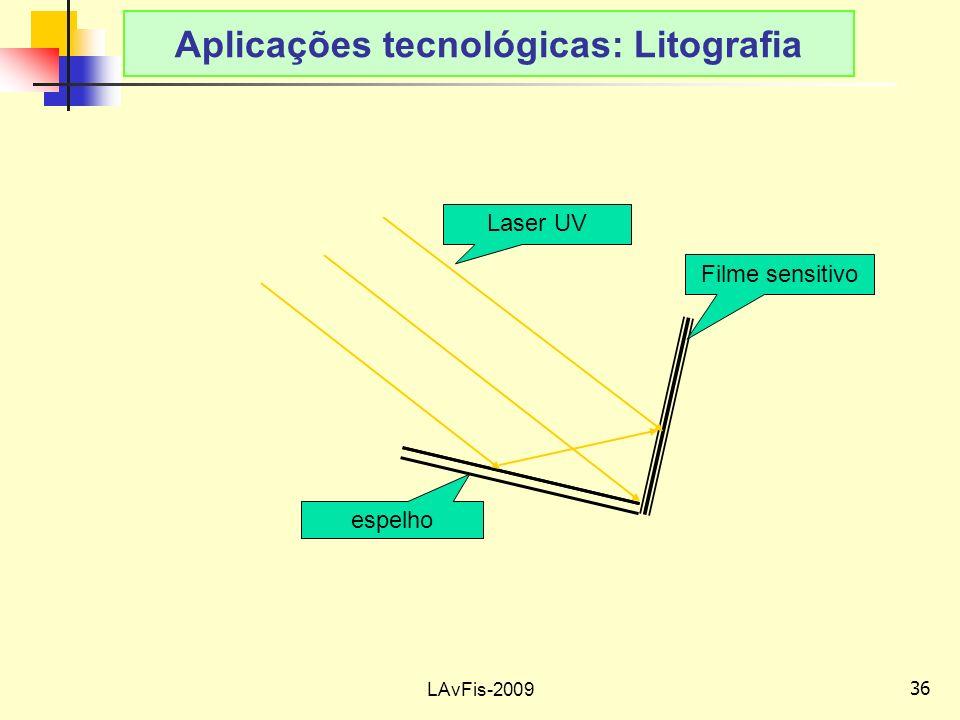 Aplicações tecnológicas: Litografia