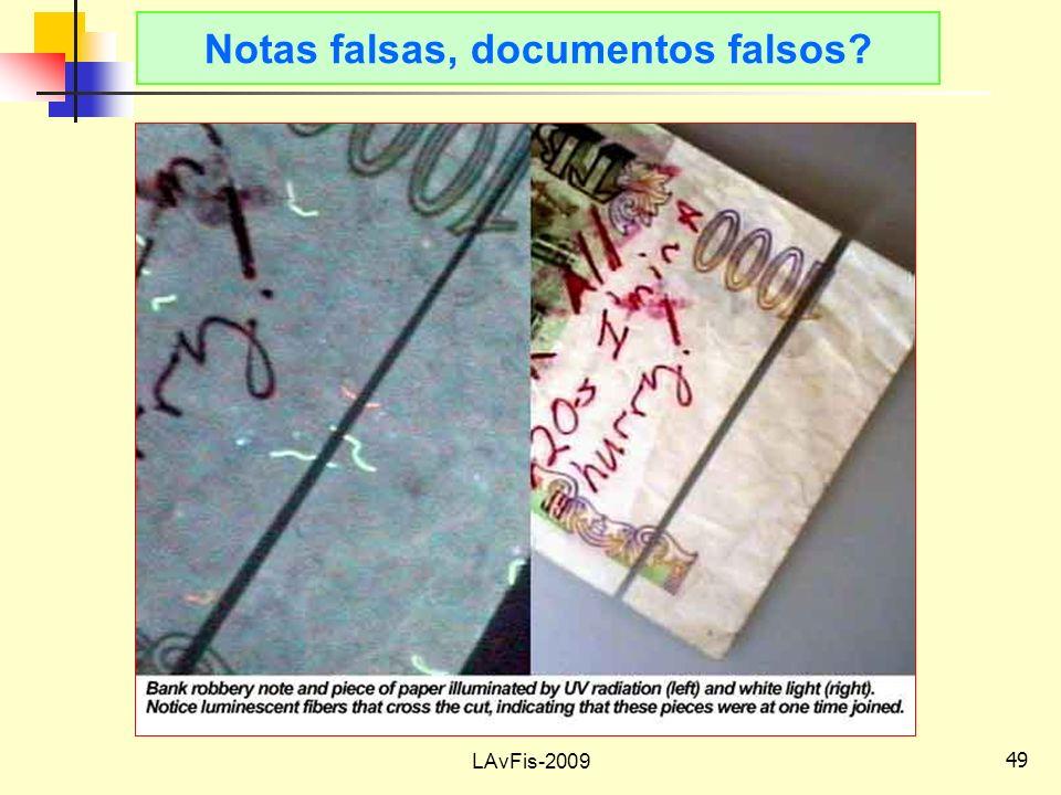Notas falsas, documentos falsos