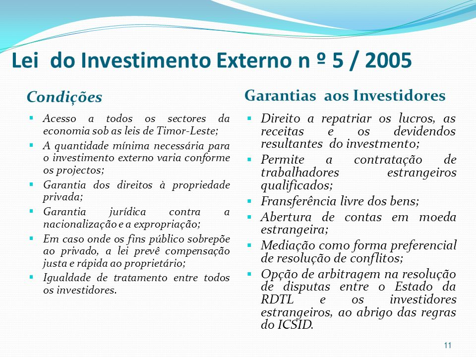 Lei do Investimento Externo n º 5 / 2005