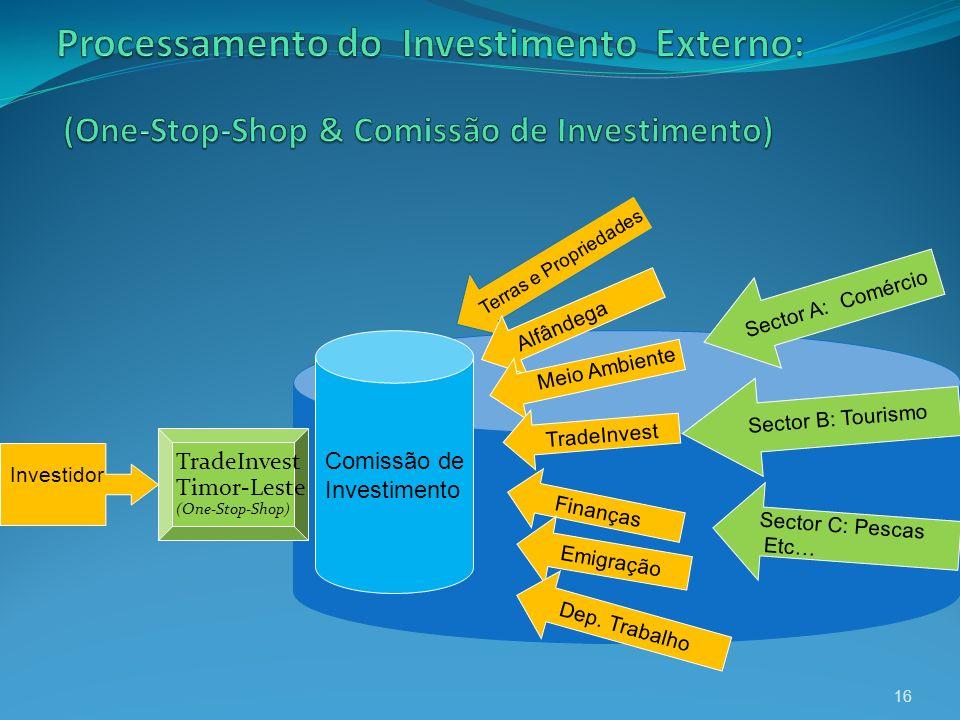 Processamento do Investimento Externo: (One-Stop-Shop & Comissão de Investimento)