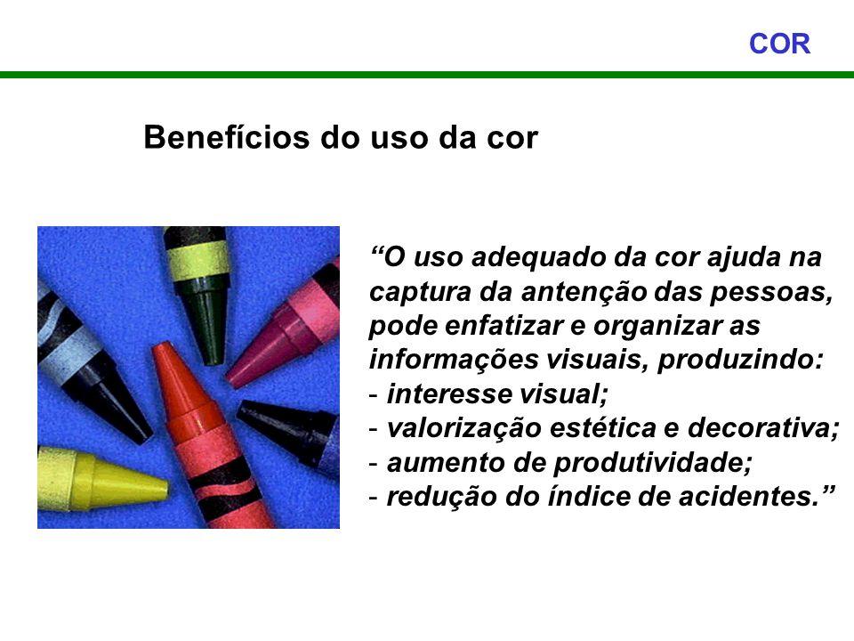Benefícios do uso da cor