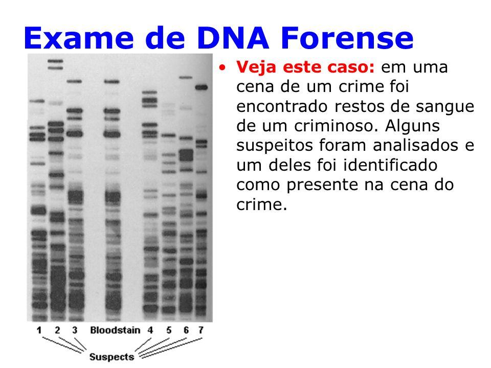 Exame de DNA Forense