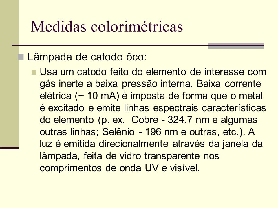 Medidas colorimétricas