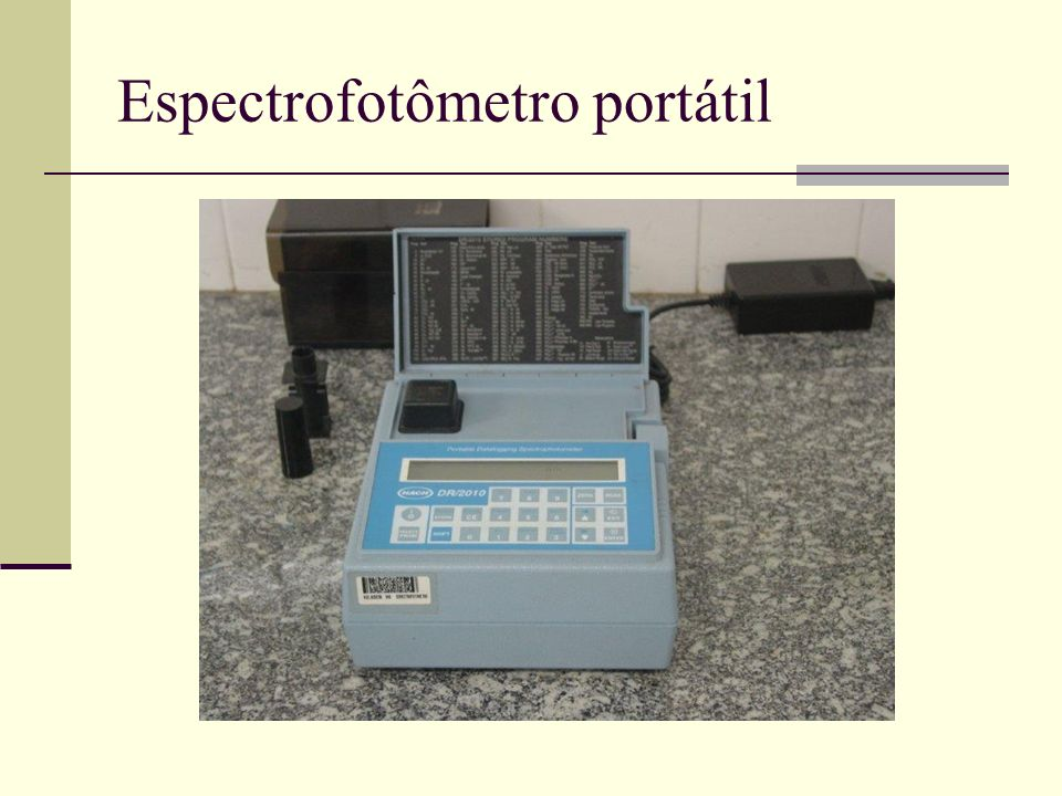 Espectrofotômetro portátil