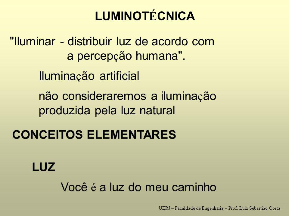 Iluminar - distribuir luz de acordo com a percepção humana .