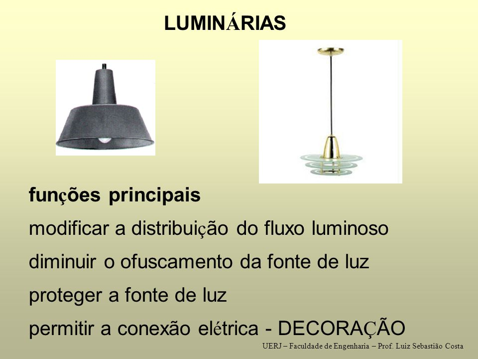 modificar a distribuição do fluxo luminoso