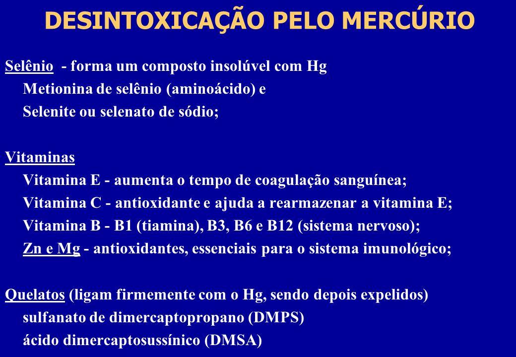 DESINTOXICAÇÃO PELO MERCÚRIO