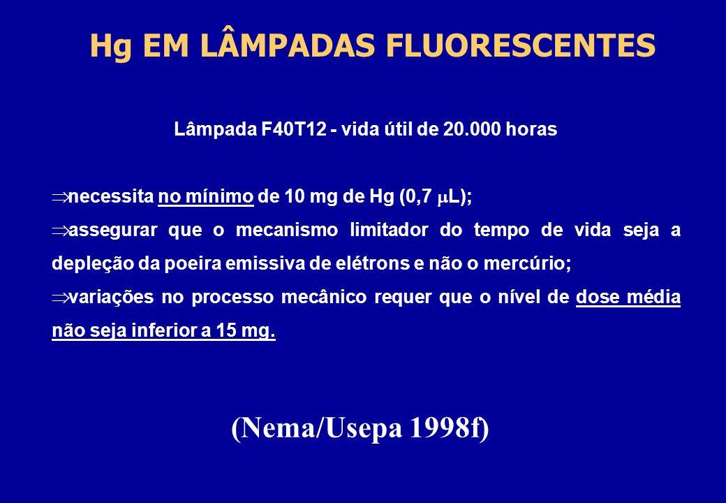 Hg EM LÂMPADAS FLUORESCENTES