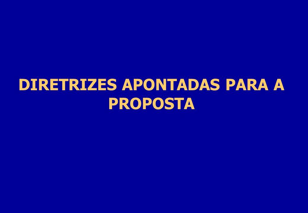 DIRETRIZES APONTADAS PARA A PROPOSTA