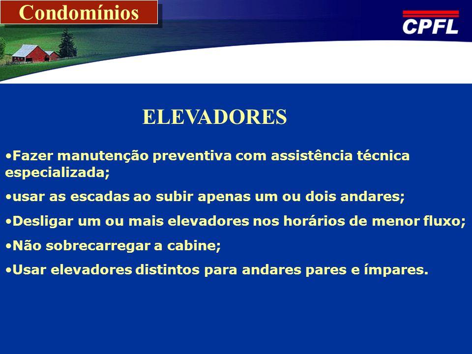 Condomínios ELEVADORES