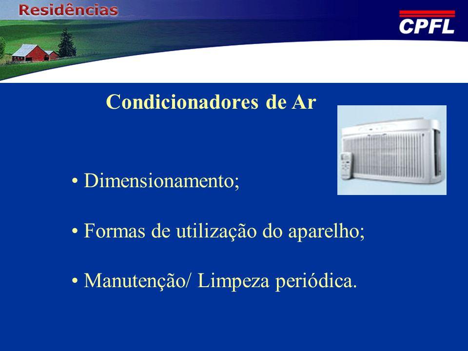 Condicionadores de Ar Dimensionamento;