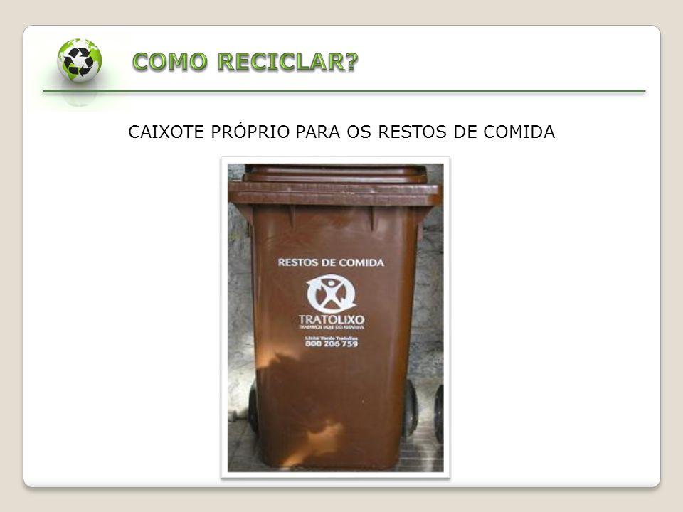 CAIXOTE PRÓPRIO PARA OS RESTOS DE COMIDA