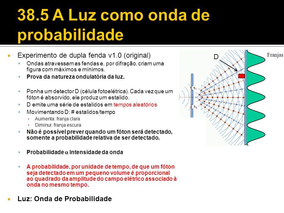 38.5 A Luz como onda de probabilidade