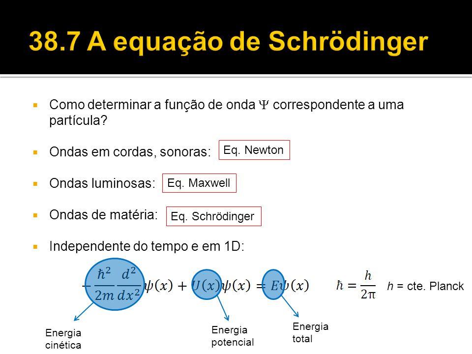 38.7 A equação de Schrödinger