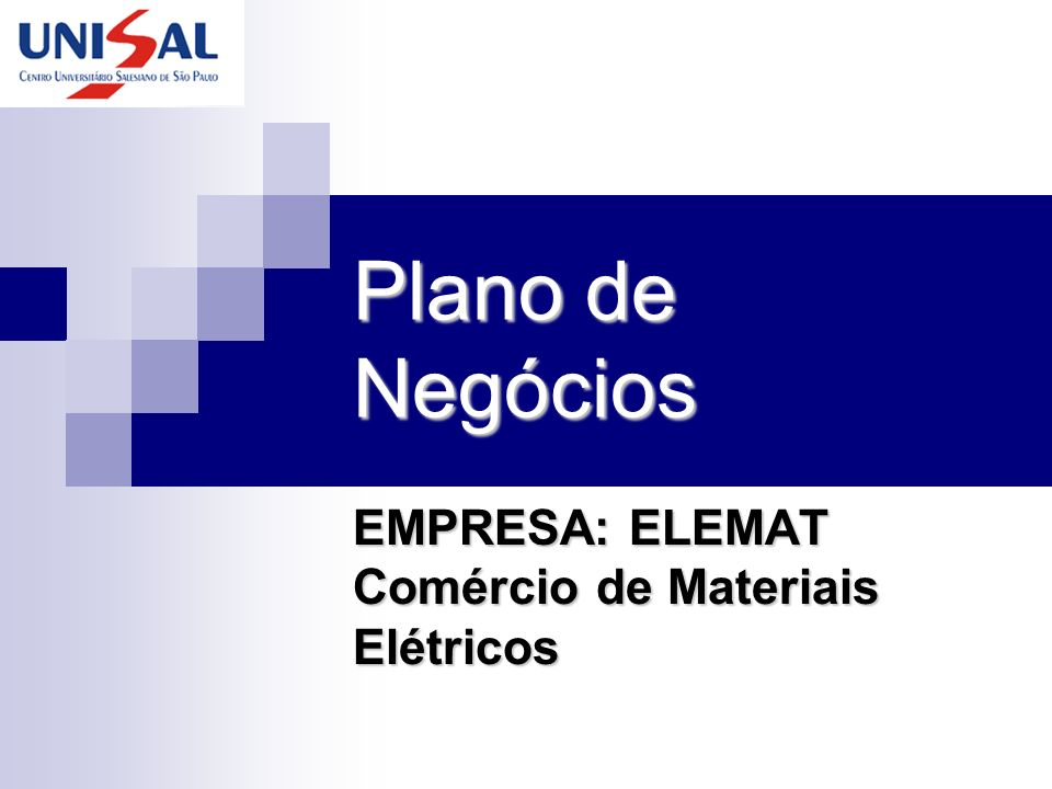 EMPRESA: ELEMAT Comércio de Materiais Elétricos