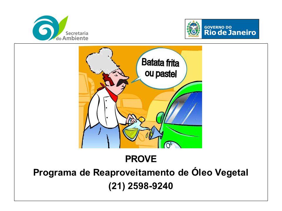 Programa de Reaproveitamento de Óleo Vegetal